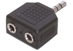 Comsol 3.5mm Stereo Male to 2 x 3.5mm Stereo Female Audio Adapter