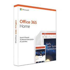 Microsoft Office 365 2019 Home 1 Year Licence - Medialess Retail