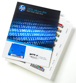 HP LTO5 BARCODE LABEL PACK - 100 DATA LABELS  10 CLEANING LABELS WORM VERSION