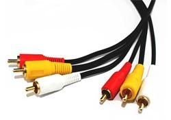 Comsol 10mtr 3 x RCA Male to 3 x RCA Male Composite Cable