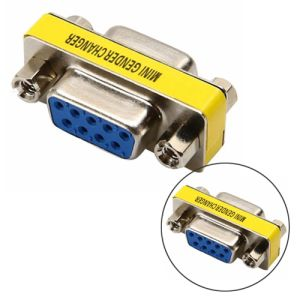 Serial RS232 DB9 9Pin Female to Female Gender Changer Adapter