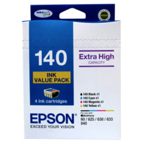 Epson 4 High Capacity T140 Ink Value Pack 4 Colours