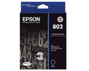 Epson 802 Standard Capacity DURABrite Ultra Black Ink Cartridge