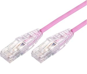Blupeak 50cm Ultra Thin CAT 6A UTP LAN Cable Pink