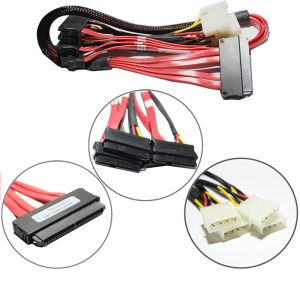 SAS SFF-8484 to 4x SFF-8482  with 4x Molex 4 Pin Cable 65cm