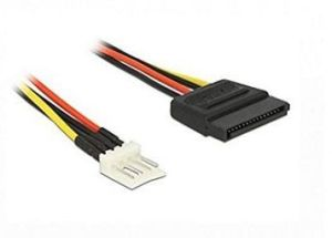 4 Pin Male to 15 Pin SATA Female Power Cable 24cm