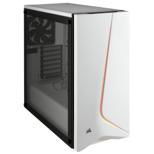 Corsair Carbide SPEC-06 White RGB Tempered Glass Solid ATX Mid-Tower Case