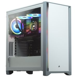 Corsair Carbide Series 4000D Solid Steel Front ATX Tempered Glass White Case