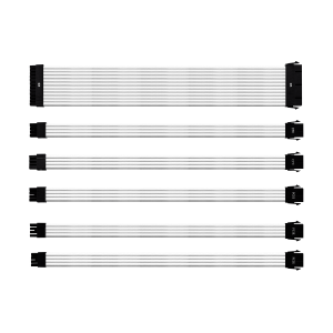 Cooler Master Universal PSU Sleeved Extension Cable Kit V2 White