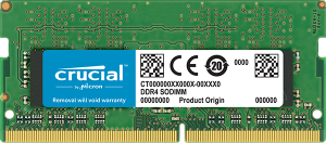Crucial DDR4 SODIMM PC19200-8GB 2400Mhz Single Rank CL17 Memory CT8G4SFS824A