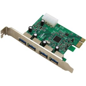Superspeed USB 3.0 PCI-E card 4 USB 3.0 Ports with 4-pin Power Connector
