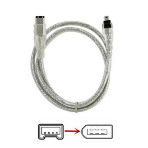 Firewire 1394 4 Pin to 6 Pin Cable 2m