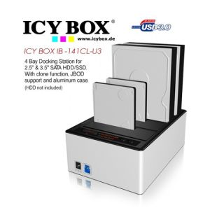 ICY BOX IB - AC622-U3 Dual-Adapter for 2 x 2.5 Inch SATA HDD/SSD to 1x USB 3.0 Host with JBOD Function