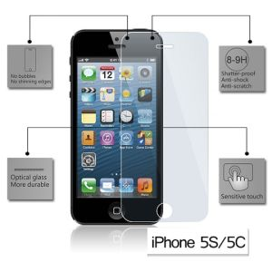 Tempered Glass Screen Protector for Apple iPhone 5/5C/5S