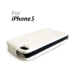 Verticle Leather Hard Case with Card Slot for iPhone 5 (Black and White only)