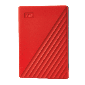 WD My Passport 2TB Portable Hard Drive Red