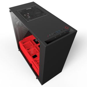 NZXT Black & Red S340 Elite Mid Tower Chassis (USB3)