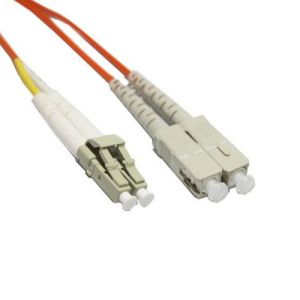 SC to LC 62.5/125 2.0mm Multimode Fibre Optic Patch Lead Cable 2m