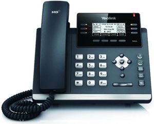 Yealink SIP-T41S 6 Line IP Phone with Dual 10/100 Ports and PoE Support
