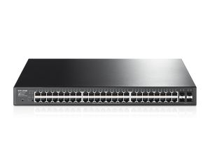 TP-Link 48-Port Gigabit Smart Switch with 4 SFP Slots 384W PoE+ 802.1Q VLAN Port Security Storm control L2/L3/L4 QoS IGMP