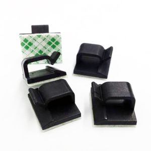 50x Self Adhesive Cable Clamp - Black
