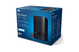WD My Cloud EX2 Ultra 2 Bay 12TB (2 X 6TB) NAS 1GB DC-1.3GHz USB 3.0 Tower 3 Year